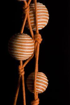Free Orange Pearl Necklace Yellow 3 Stock Photos - 20050653