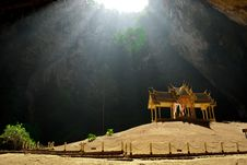 Free Pavilion In The Deep Cave Stock Photography - 20051612