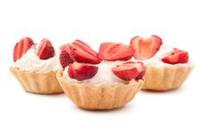 Free Strawberries And Cream In A Basket Stock Images - 20051824
