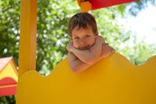Free Cute Young Boy On Playground Stock Photography - 20053342