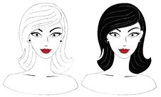 Free Set Of Two Female Heads Royalty Free Stock Image - 20054326