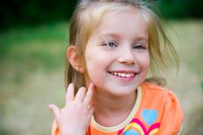 Free Cute Little Girl  On The Meadow Royalty Free Stock Images - 20054499