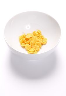 Free Bowl With A Little Of Cornflakes Stock Photos - 20055083