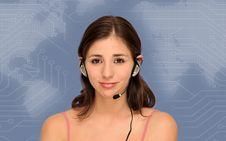 Free Beautiful Customer Service Woman Royalty Free Stock Image - 20055796