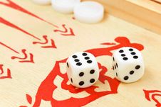 Backgammon Dices Royalty Free Stock Images