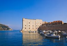 Free Port At Town Dubrovnik In Croatia Stock Images - 20055844