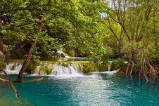 Plitvice Lakes In Croatia Stock Photography