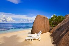 Free Chairs On Tropical Beach Royalty Free Stock Photos - 20055928