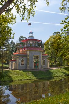 Free Pavilion In Chinese Style In Tsarskoe Selo Royalty Free Stock Images - 20056169