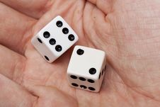 Free White Dice With Black Dots Royalty Free Stock Photos - 20056268