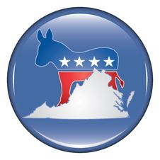 Free Democrat Virginia Button Royalty Free Stock Image - 20056286