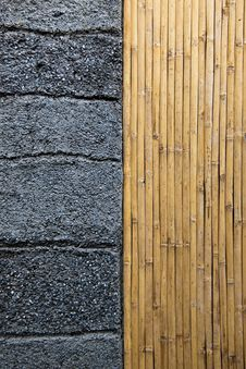 Free Concrete&bamboo Background Stock Photography - 20056612