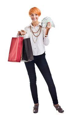 Free Shopping Lady Stock Image - 20056821