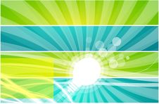 Vector Light Bulb Background Stock Photo