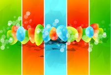 Free Vector Glass Shapes Background Stock Photos - 20056933