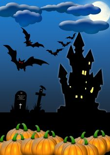 Free Halloween Invitation Card Royalty Free Stock Images - 20056999