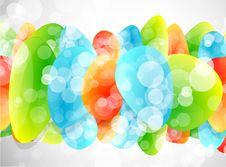 Free Vector Glass Shapes Background Royalty Free Stock Photos - 20057088