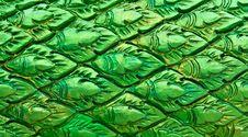 Free Green Thai Style Pattern Wall Stock Photos - 20057493