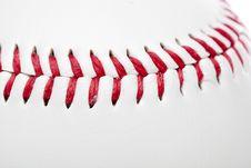 A Clean White Baseball Royalty Free Stock Photo