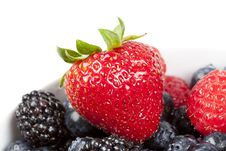 A Group Of Fresh Berries In A Bowl Stock Photo