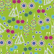 Free Vector Seamless Pattern Of Fashion Jewelry Stock Photography - 20058592