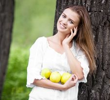 Free Woman With Apples Royalty Free Stock Image - 20059326