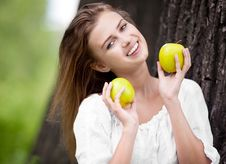 Free Woman With Apples Stock Photo - 20059430