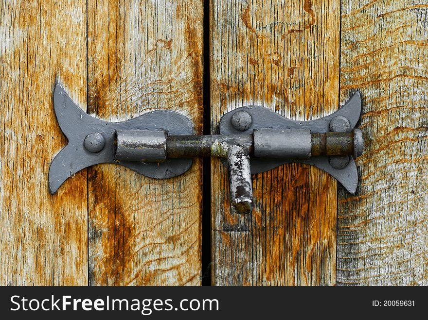 Old steel latch