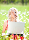 Free Woman With A Laptop Stock Images - 20060214