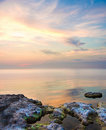 Free Sea And Rock At The Sunset. Royalty Free Stock Image - 20067066