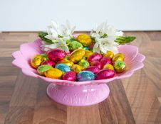 Free Cheerful Chocolate Easter Eggs Stock Image - 20060571