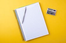 Free Copybook, Pen And Calculator Royalty Free Stock Images - 20060929