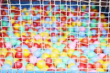 Free Rope Net With Colorful Ball Royalty Free Stock Photo - 20061735