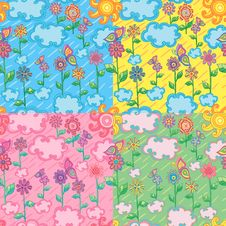Free Bright Seamless Patterns Royalty Free Stock Photography - 20061787