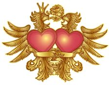 Free Eagles With Hearts Royalty Free Stock Photography - 20061817