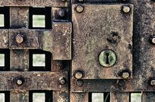 Free Closed Metal Door With Lock Royalty Free Stock Images - 20062849