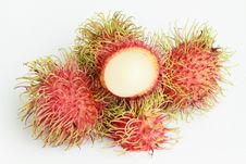 Free Tropical Fruit, Rambutan Royalty Free Stock Photography - 20062907