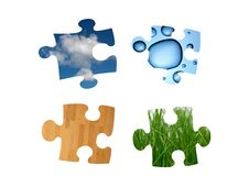 Free Jigsaw Pieces Royalty Free Stock Image - 20063286