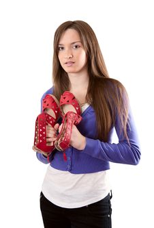 Free Female Shoes Royalty Free Stock Photo - 20063495