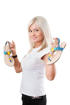 Free Summer Footwear Royalty Free Stock Photography - 20063507