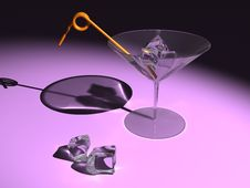 Free Martini Glass With Ice Cubes Stock Photos - 20063563
