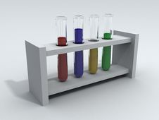 Free Laboratory Test Tubes With Colored Liquid Stock Photography - 20063632