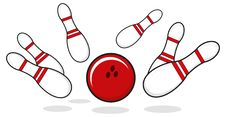 Bowling Goal Royalty Free Stock Photography