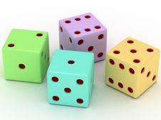 Free Playing Bones Stock Image - 20064061
