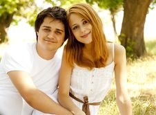 Free Beautiful Couple At Park. Royalty Free Stock Images - 20064339