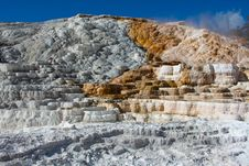 Free Travertine Terrace, Mammoth Hot Springs, Yellowsto Stock Photos - 20064803