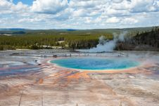 Free Grand Prismatic Spring In Yellowstone, WY Royalty Free Stock Photos - 20064878