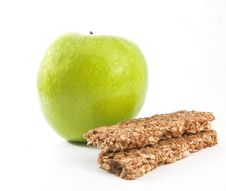 Muesli With Green Apple Royalty Free Stock Images