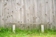 Free Old Bench Against Wooden Wall Royalty Free Stock Images - 20065409