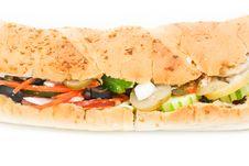 Free Veggie Sandwich Royalty Free Stock Image - 20065536